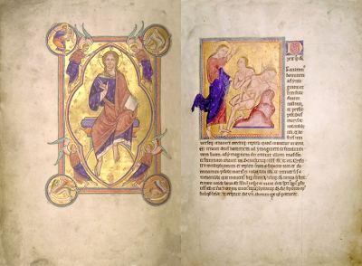 Heavily retouched image from Romanesque Bestiary using digital techniques to improve the copy