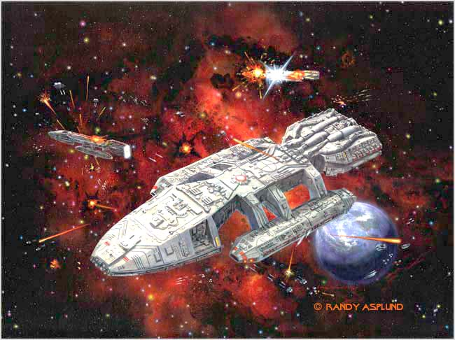 Battlestar Galactica Cover Art